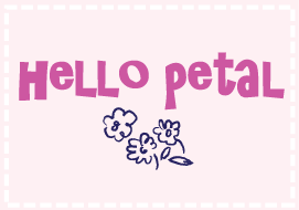 Hello Petal button