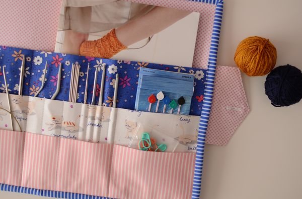 Quilted Knitting Needle Case Pattern : Christmas knitting kit with kittens on comfortstitching