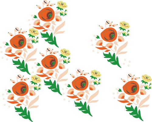 Poppies in progress