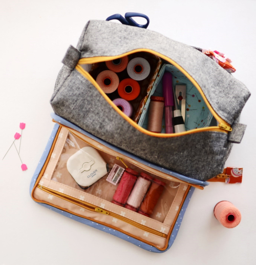All in one box pouch by aneela hoey aerial view