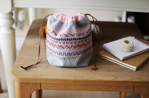 Colorwork pouch  from Stitch And Sew book by Aneela Hoey