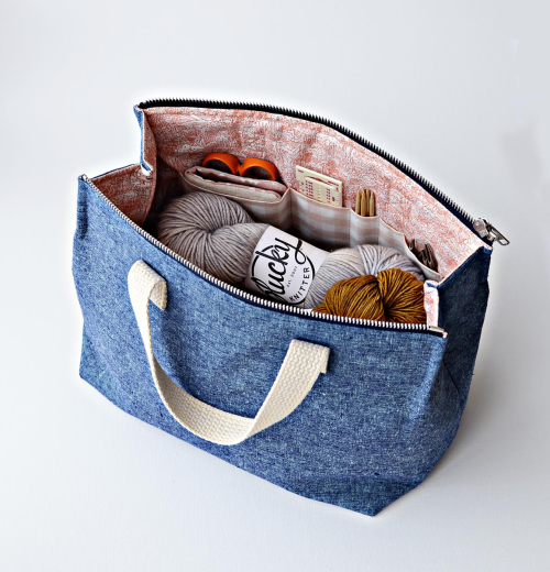 Knit supply tote by aneela hoey 1